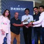 Pooja Dhingra, Ashok Sethi and Sameer Dhingra felicitating Dinesh Palrecha & Shomil Palrecha ( Mumbai Distributors)
