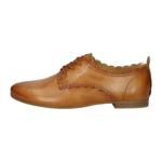Cognac leather derbies bugatti women 411-91201-4149-6390_002