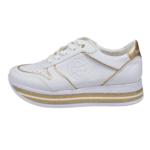 White gold casual Sneakers- bugatti 431-88008-5055-2051_002